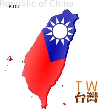 Map-based flag of Taiwan