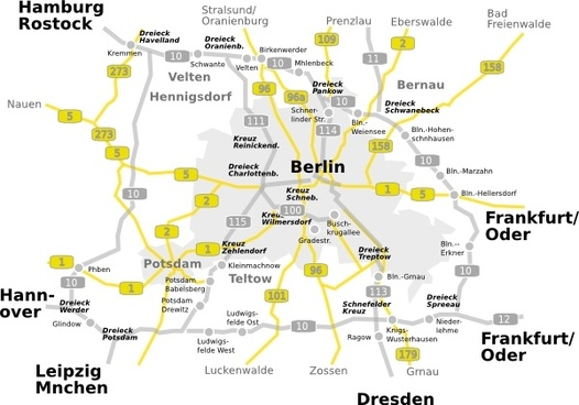 Map-berlin-brandenburg clip art
