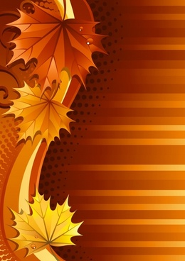 autumn background dark orange leaves curves decor