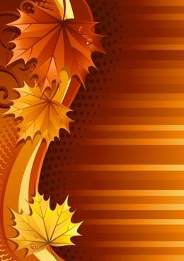 autumn background dark orange leaves curves decor