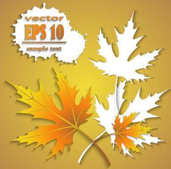 maple leaf creative autumn background vector