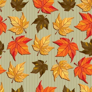 autumn background maple leaves icons decor
