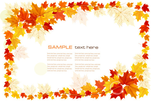 maple leaf vector background art
