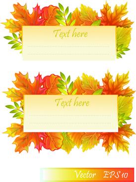 maple leaves design elements vector