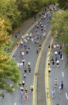 marathon runners long distance