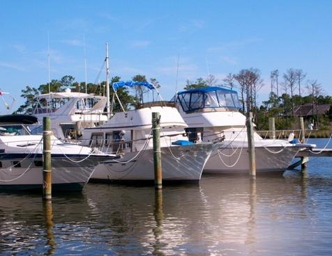 marina boats dock