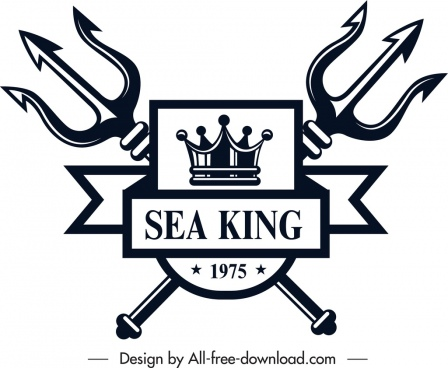 marine logo template royal emblem symmetrical sketch