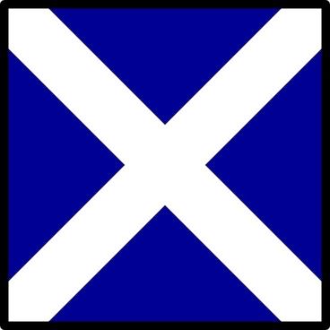 Maritime Signal Flag Mike clip art