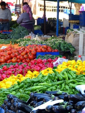 market vegetables food