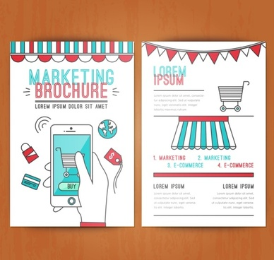 marketing brochure cover template vector