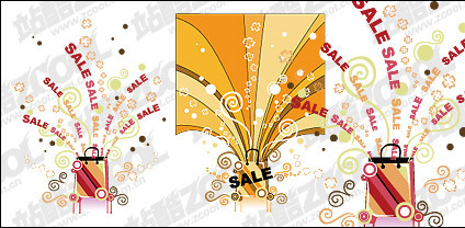 Marketing theme vector material