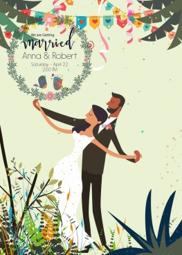 marriage banner groom bride icons classical decor