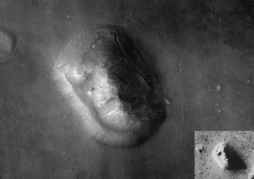mars face on mars cydonia mensae