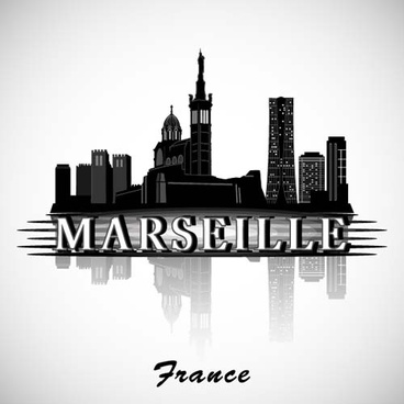 marseille city background vector