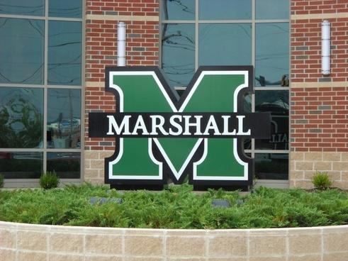 marshall university sign west virginia