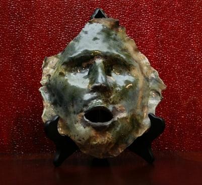 mask face pottery