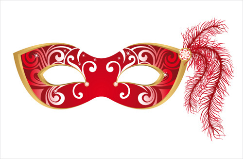 mask with masquerade design vector