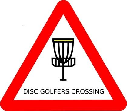 Mat Cutler Disc Golf Roadsign clip art