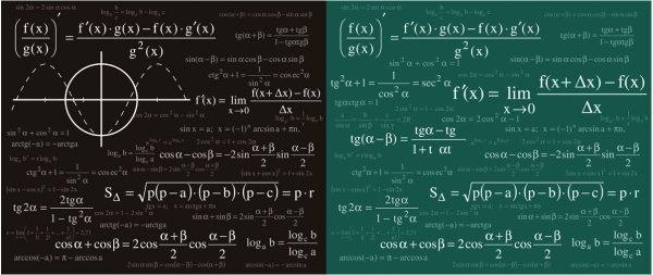 mathematical amp physical formulas vector