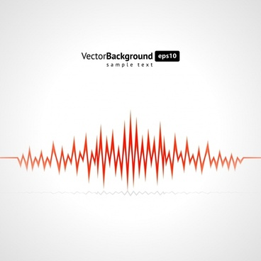 audio wave background bright flat dynamic design