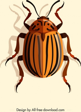 may bug icon 3d brown stripes decor