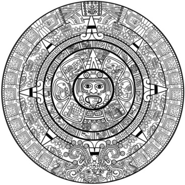 mayan patterns 03 vector