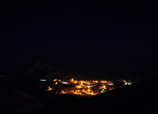 mcmurdo station at night