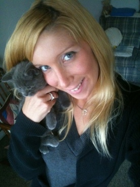 me and a kitten