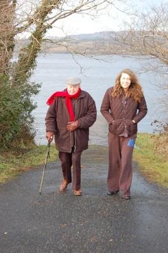me and my grandpa walking
