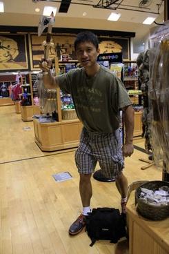 me wielding a battle axe in mitchell south dakota