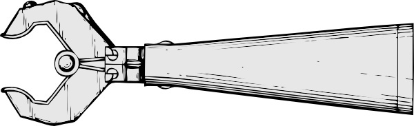 Mechanical Hand Side View clip art