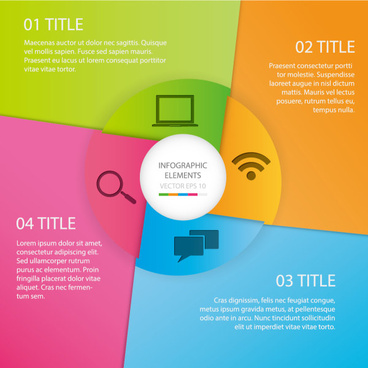 media communication infographic vector