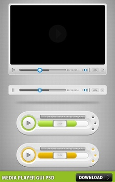 Media Player GUI PSD