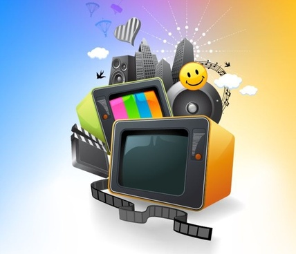 media background new classics theme colorful 3d design
