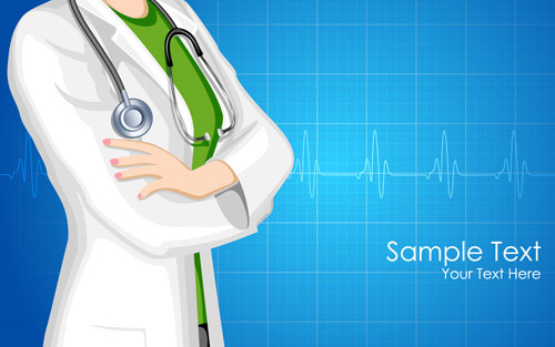 medical and health elements vector