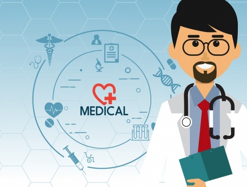 medical background doctor icon circle design