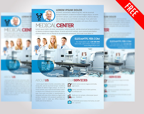 medical center free psd flyer template