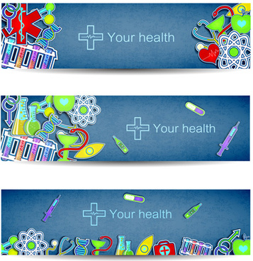 medical elements vector banner