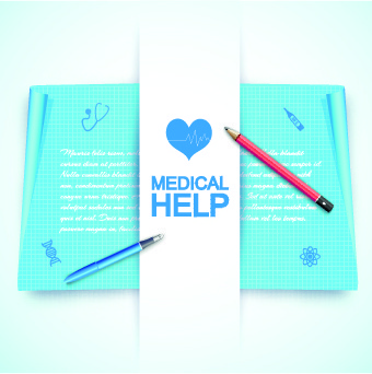 medical help design elements vector background