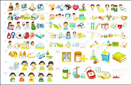 Medical hospital icon vector material