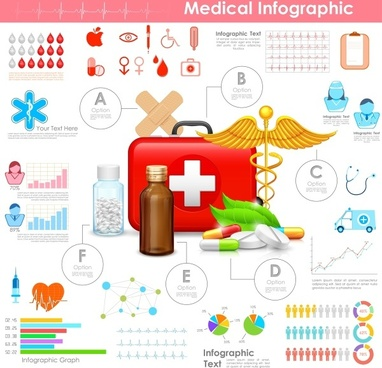 medical medical data infographics vector