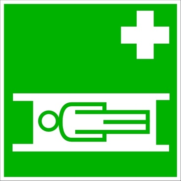 Medical Stretcher Sign clip art