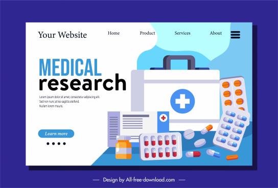 medicine webpage template drug tablet capsule sketch