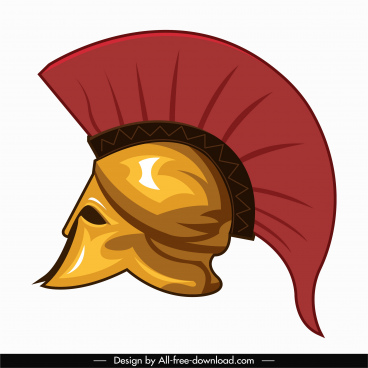 medieval warrior helmet icon colored classic sketch
