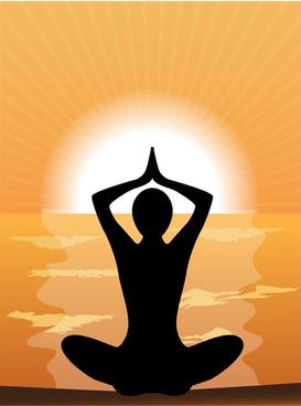 meditation design elements vector graphics