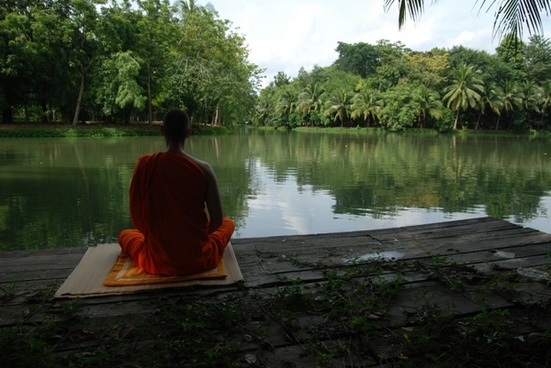meditation lake buddhist