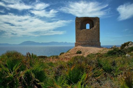 mediterranean coast watchtower