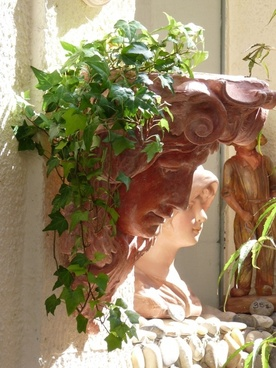 mediterranean statue of liberty female head
