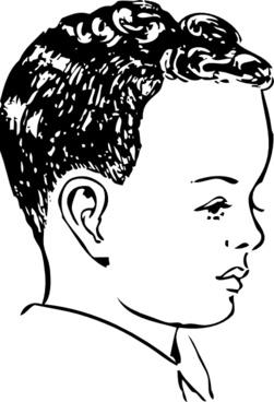 Medium Haircut With Natural Curls clip art