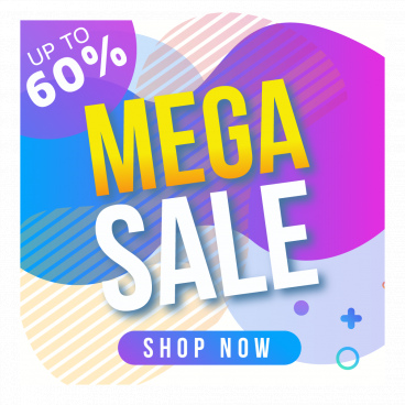 mega sale template instagram